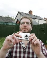 Richard Barr from east Belfast who filmed UFO activity in his parent's back garden at the weekend