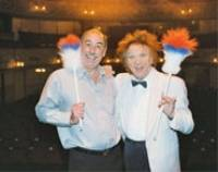 IN CHARGE: Neil Thomson, who has been acting manager on seven occasions, with Ken Dodd at Blackpool Grand Theatre