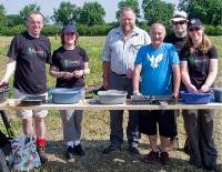 DIGGING DEEP: With Tony Robinson, third from right.