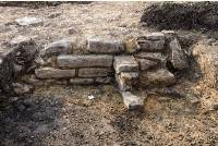 The Roman villa's foundations are unearthed.