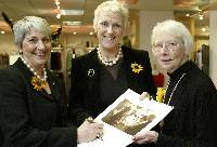 Another year: Calendar Girls  Angela Baker, Tricia Stewart and Beryl Bamforth in town to sign copies of their new calendar at Harvey's, Halifax