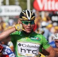 UNLUCKY 13: Cavendish may have lost any chance of winning back the green jersey after today's controversy