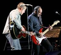 LIVE AND LOUD: Roger Daltrey and Pete Townshend in action last night (JM070530-211)