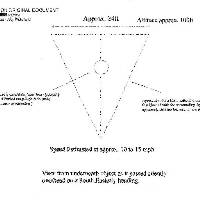 An image of a drawing and description of a UFO sighting over Wakefield, one of the previously top-secret files released by the Ministry of Defence (MoD) today.