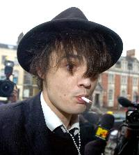 Heading for Leeds: Pete Doherty.