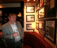 Ken Harris, nephew of the late actor Richard Harris, at the memory wall in Richard's favourite pub, Charlie St George's, in Limerick last year