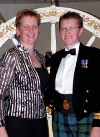 Alison Munsie, left, and Lt Cdr McWilliams
