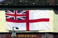 This is a white ensign not a Cross of St George