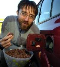 Andy Pag is taking part in the world's first carbon negative expedition using biodiesel fuel made with waste chocolate