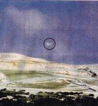 A picture taken at Winter Hill appears to show a strange object floating in the sky.