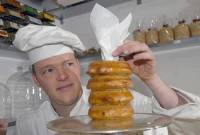 GATEAUX-ING PLACES: Scotland's only 'Konditormeister', Falko Burkert has a opened a shop in Bruntsfield.<br /> Picture: Ian Georgeson