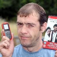 Cell phone: Martin Smith's movie ringtone landed him in trouble with the police.