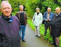 SPOOKY: Outwood Community Video members George Gunn, Barrie Box, Yvonne Craven, Derek Ellis and Charles Brears. w0801a741