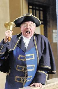 OYEZ! Charles Pickering (74), from Whittlesey, has been <br /> named Peterborough's new <br />   town crier. (7RH1016457) <br />        Pictures: ROWLAND HOBSON