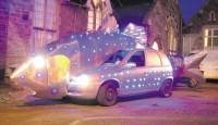 ALL LIT UP: Andy Hazell's Vauxhall Corsa 'fish'.