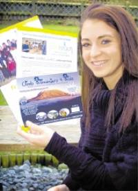 ALL SET ... Student Rachael Cooper, a finalist last year in the Miss Scarborough contest, is to climb Mount Kilimanjaro for charity 090136
